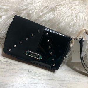 Jessica Simpson Black Wristlet Clutch Wallet NEW